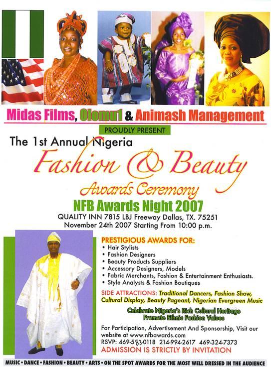Nigeria Fashion and Beauty (NFB) Awards 2007